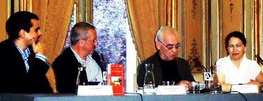 Presentación de Eros y la doncella en Casa de América, Madrid