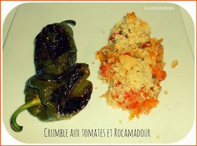 image Crumble aux tomates et rocamadour
