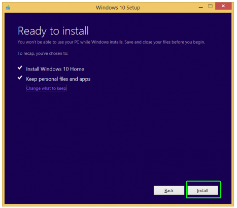 Microsoft Window 10 Upgrade