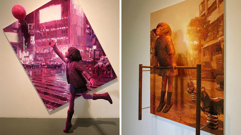 Pinturas 3D inspirados en la infancia por Shintaro Ohata