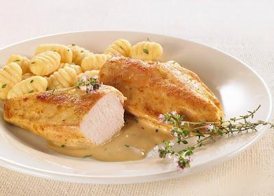 Ñoquis con pollo