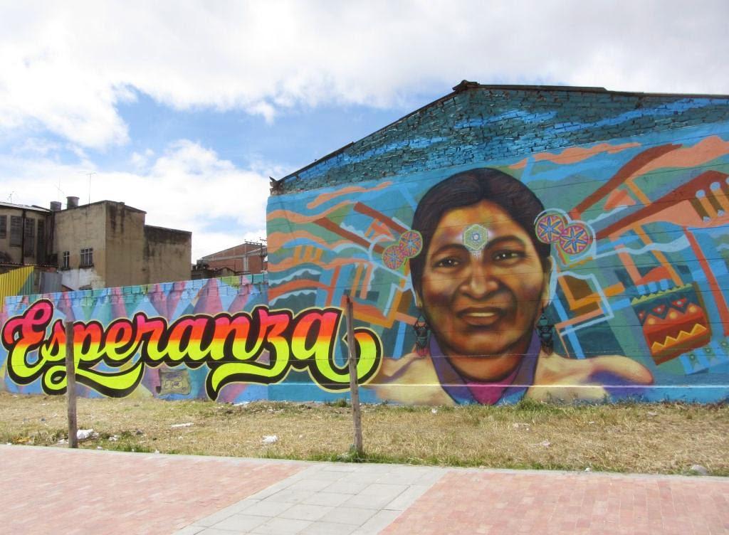 EL GRAFFITI COMO UN MEDIO DE EXPRESION QUE ENCONTRAMOS Y ADMIRAMOS EN LAS MARCHAS BOGOTANAS DURANTE LA CUMBRE