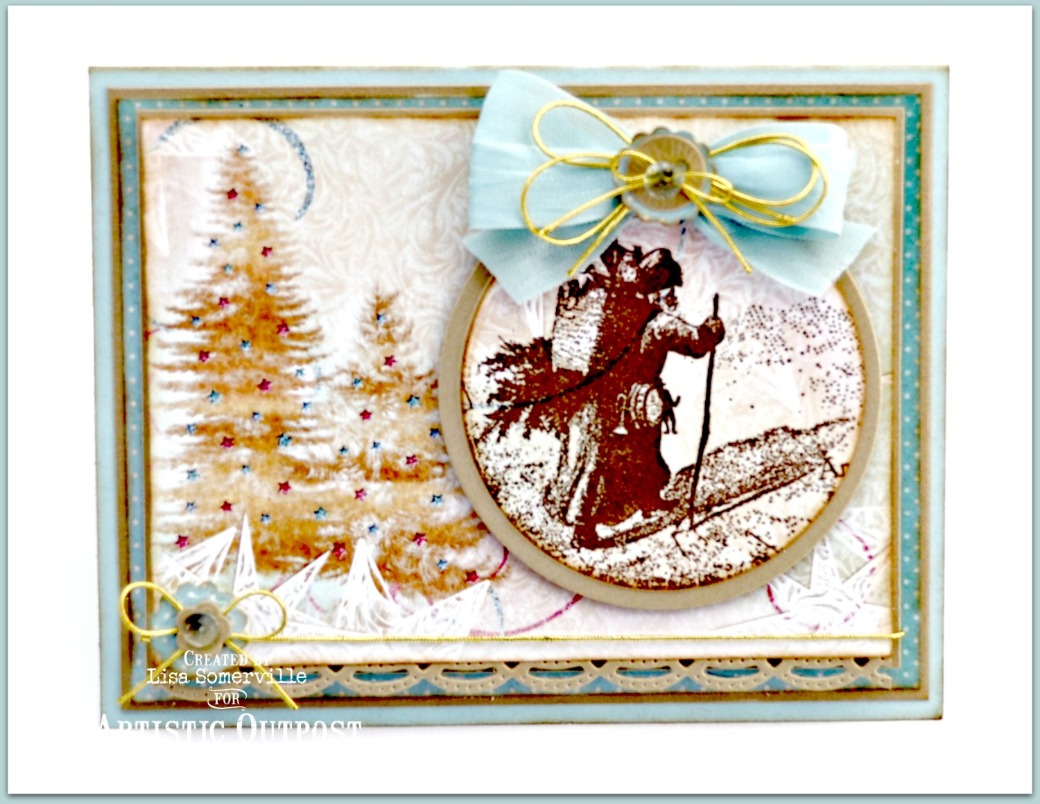 Stamps - Artistic Outpost Snowy Woods, Our Daily Bread Designs Custom Beautiful Borders Dies/Circle Ornaments Dies/Matting Circles Dies/Peaceful Poinsettias Die, ODBD Christmas Paper Collection 2014