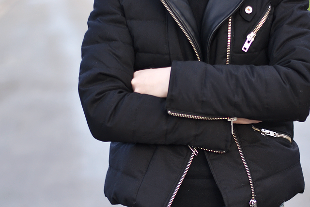 The kooples, jacket, zippers, silver hardware, details, outfit, belgian blogger
