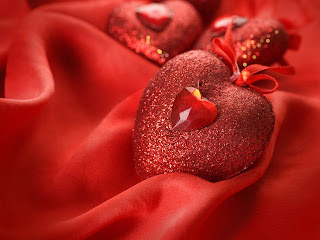 corazon rojo y brillantes