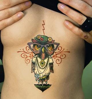 Melhores tatuagens femininas de corujas - Fotos
