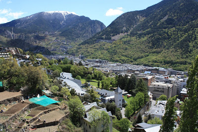 Andorra La Vella and the Pyrenees from Passeig del Rec del Solà