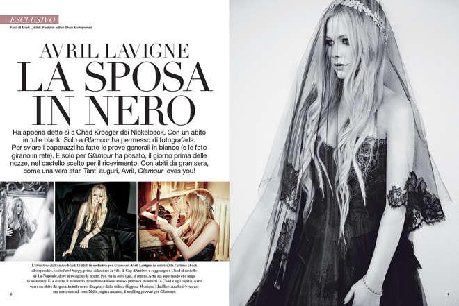 Avril Lavigne Matrimonio In Nero : Bellezza e style avril lavigne sposa in nero per glamour