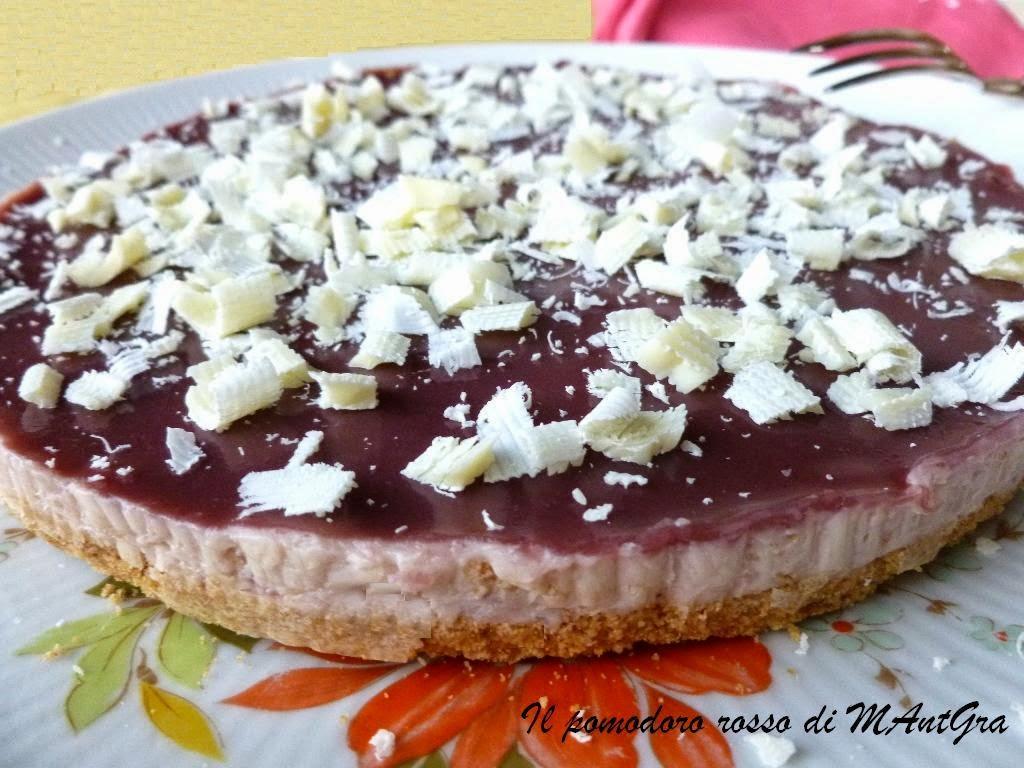cheesecake alla confettura di castagne e riduzione di porto