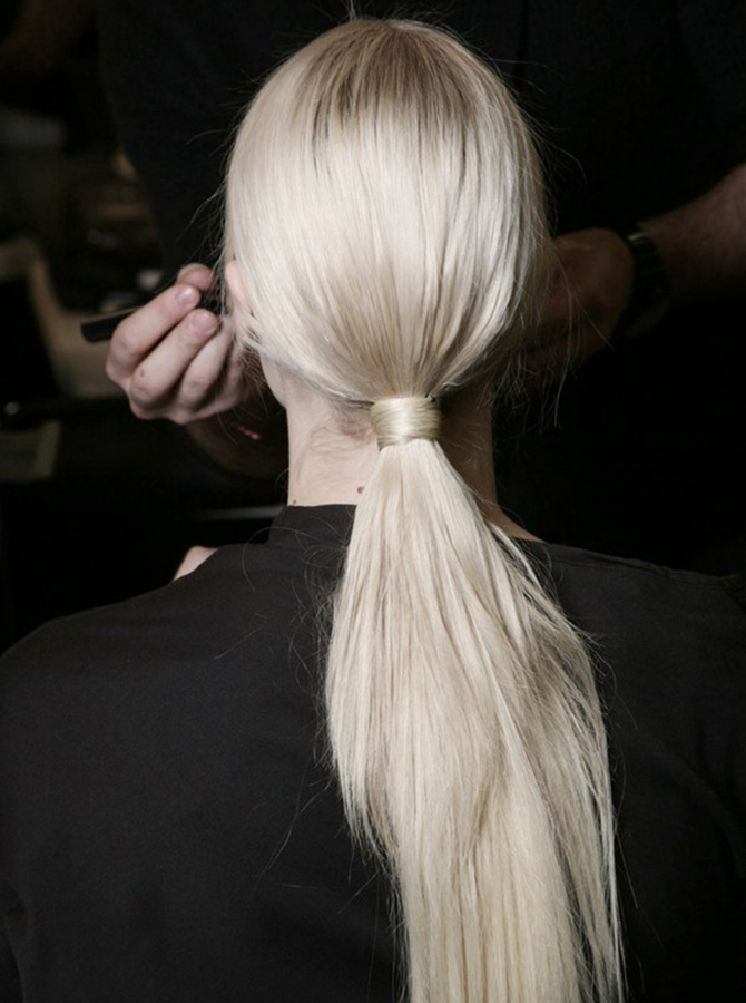 Fashion Attacks inspiration low ponytail