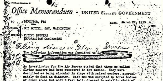Dokumen UFO Paling Populer Milik FBI