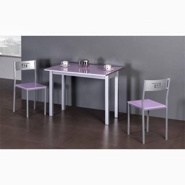 mesa estrecha cristal