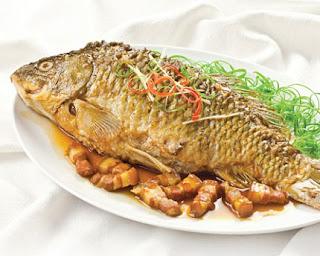 Món ăn cá chép kho riềng