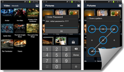 Password Photos Or Video Gallery In Android