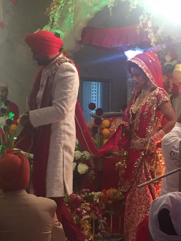 harbhajan geeta wedding pics