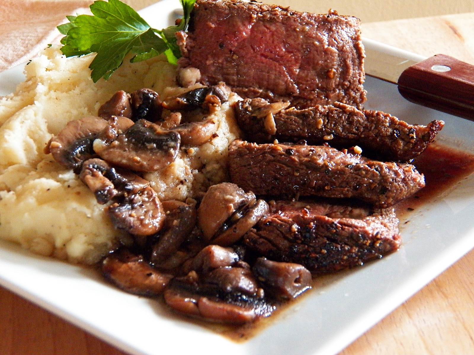 Comfy Cuisine: Peppered Filet Mignon with Brandied ...