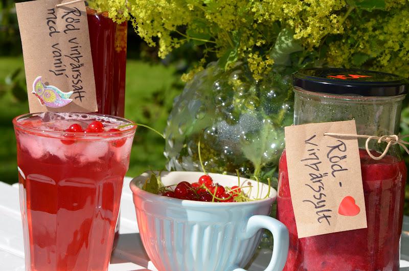 röd vinbärssaft med vanilj recept