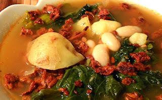 Bowl of Vegan Portuguese Soup