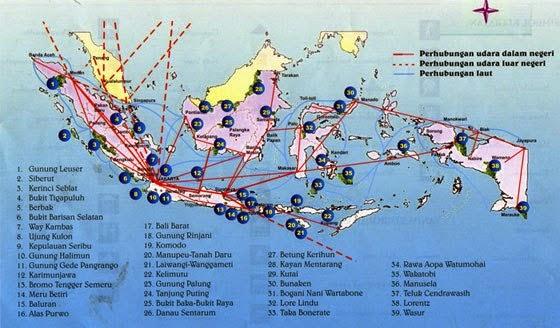 peta gunung di Indonesia