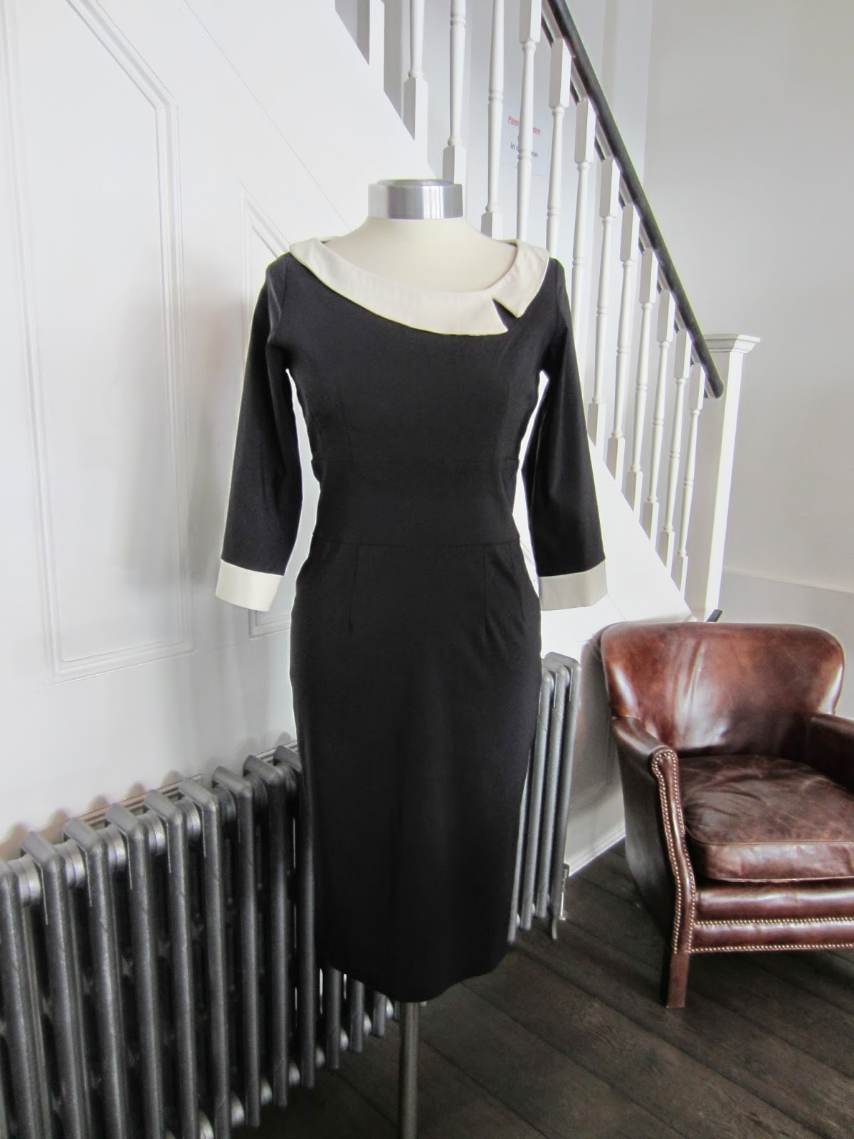 The Pretty Dress Company Black Dress with White Trim