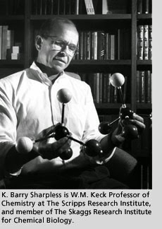 """Click Chemistry"" の発明者:<br>Barry Sharpless 教授"
