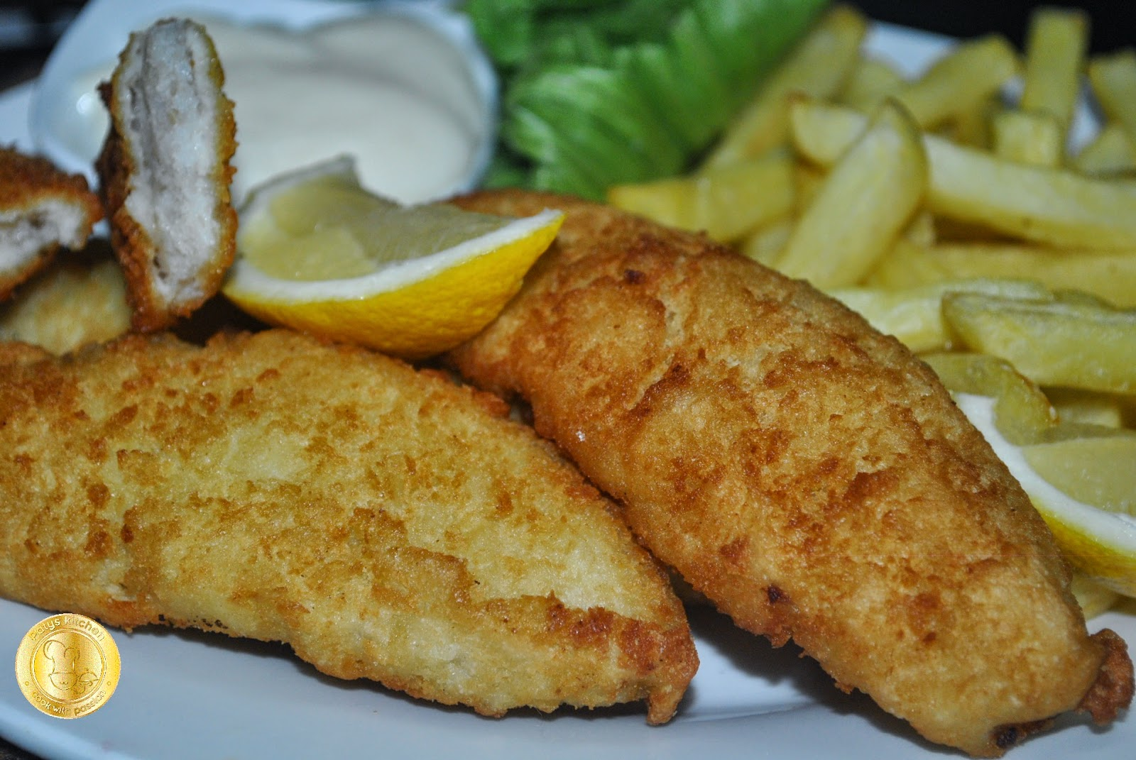 patyskitchen no beer batter fish n chips