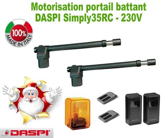 motorisation portail 2 battants daspi kit simply35rc motorisationplus le blog. Black Bedroom Furniture Sets. Home Design Ideas