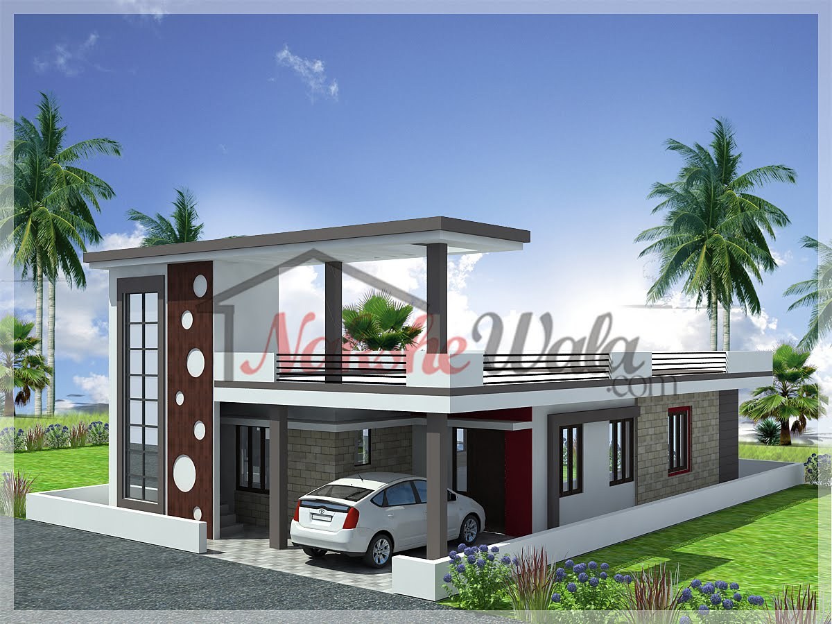 Single Floor Elevation House : Nakshewala interior designing