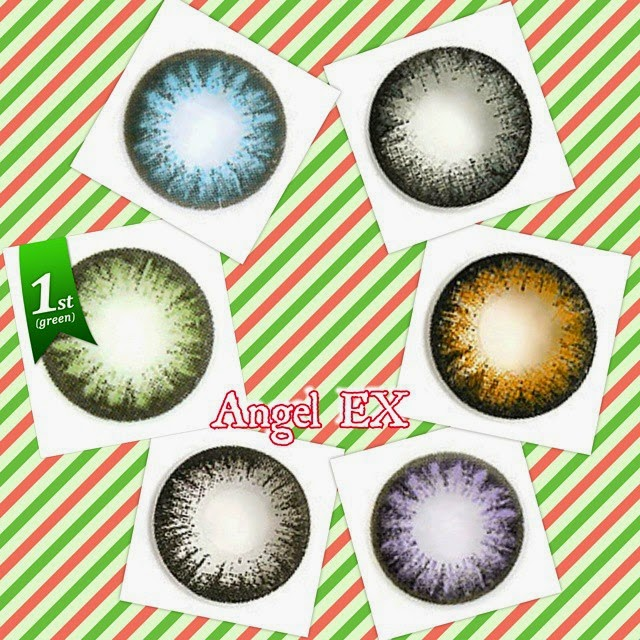 Angel EX Series; gray circle lens, brown circle lens, violet circle lens, black circle lens, green circle lens, blue circle lens