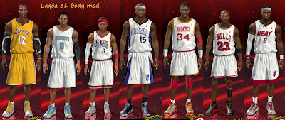NBA 2K13 Players Body Mod Fix Shoes Legs Size