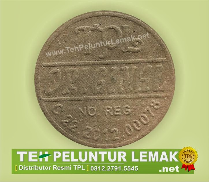 Teh Peluntur Lemak dengan logo fitur embos