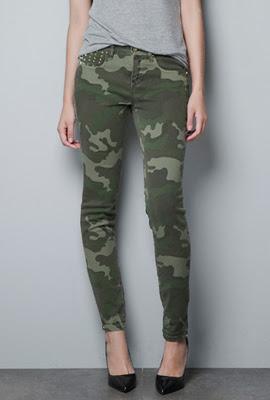 camuflaje mujer Zara pantalones