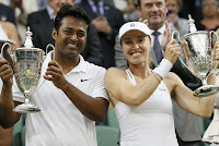 Leander Paes of India and Martina Hingis of Switzerlan claimed Wimbeldon 2015 Mixed Doubles