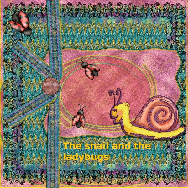 July 2016-Snail and ladybugs