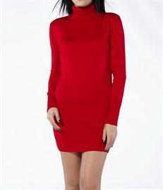 kısa ve kırmızı elbise modeli