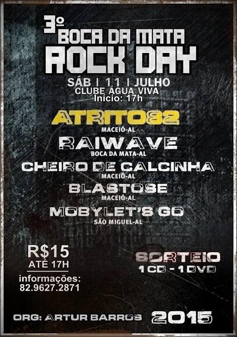 11-07-2015 - 3º BOCA DA MATA ROCK DAY - Boca da Mata - AL