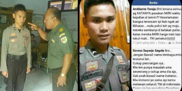 Perwira TNI Memarahi Polisi Yang Sebut TNI Penakut Sama Teroris Thamrin