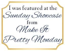 Featured at Sunday Round up from Make it Pretty Monday