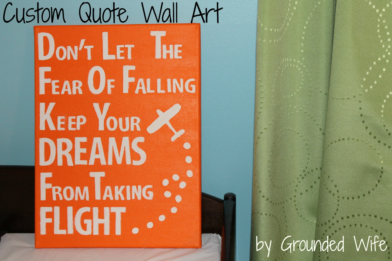 Simple I was inspired by Brandy from the Heart and Habitat blog Here is her version of wall art that she painted with her kids so cute