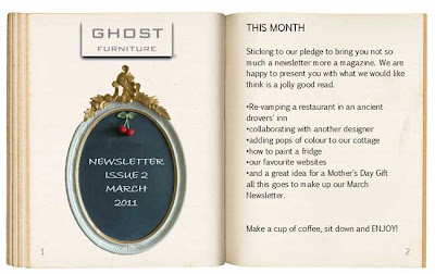 ghost furniture newsletter march 2011 issue