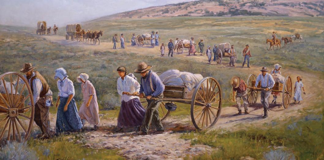 religion in the american west mormon handcarts a symbol