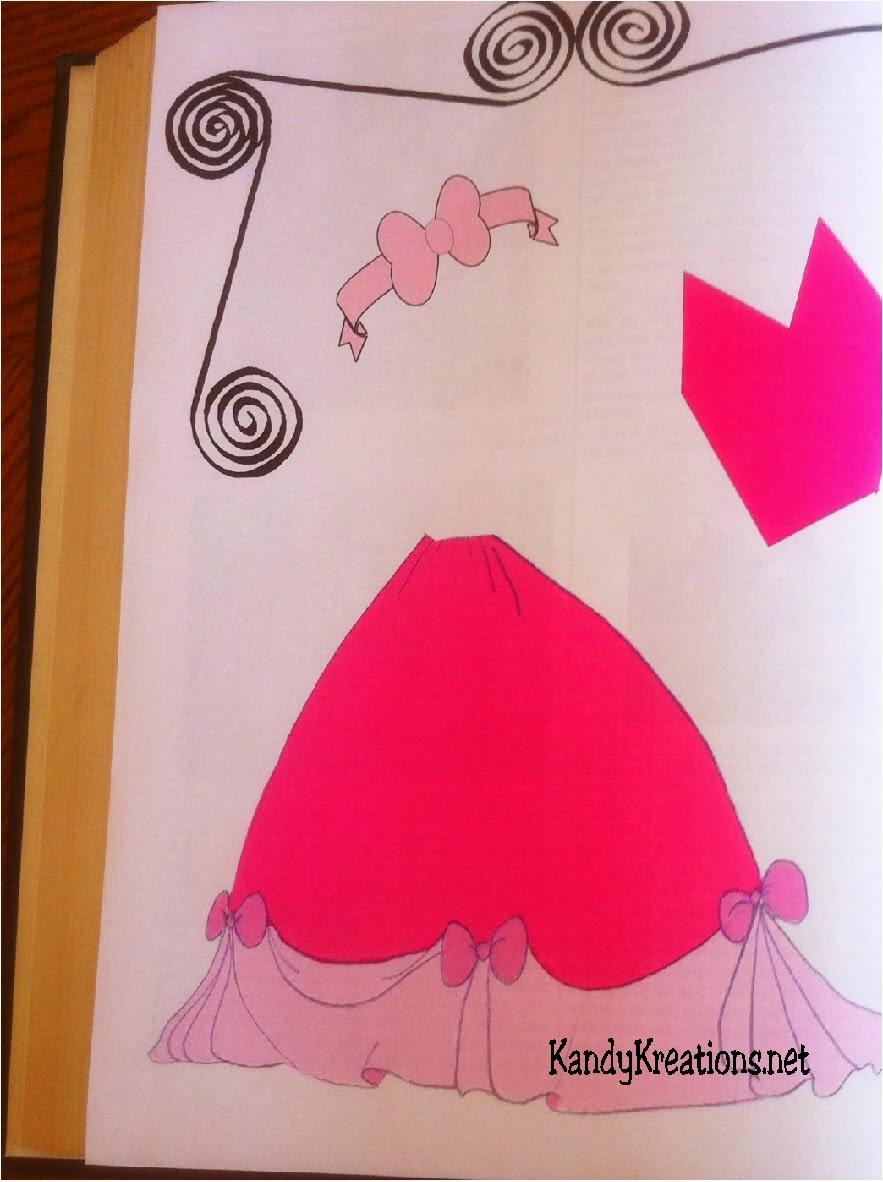 Cinderellas dressmaker pattern page