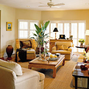 home plan family room is colorful and exciting