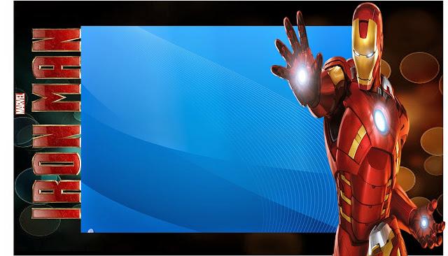 Invitación, tarjeta o marco de fotos de Iron Man.