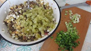 готовим салат с жареными грибами