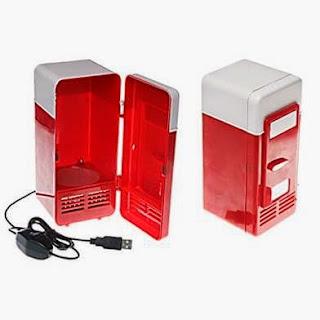 kado unik kulkas mini merah
