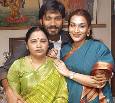 Dhanush with family