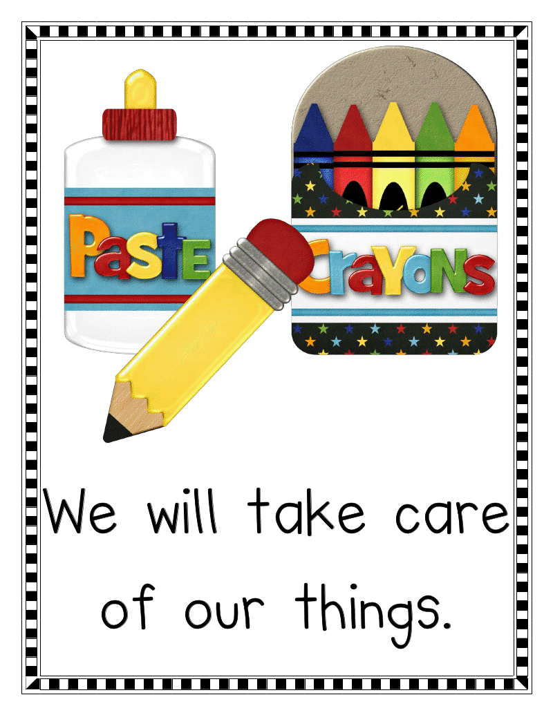 Kindergarten classroom decoration printables free download clip art - Mrs Jump S Class Classroom Rules And Misc Freebies