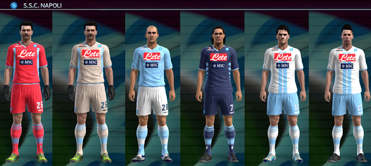 PES 2012 Napoli 12 13 Kit Set by VinVanDam13 *Update*