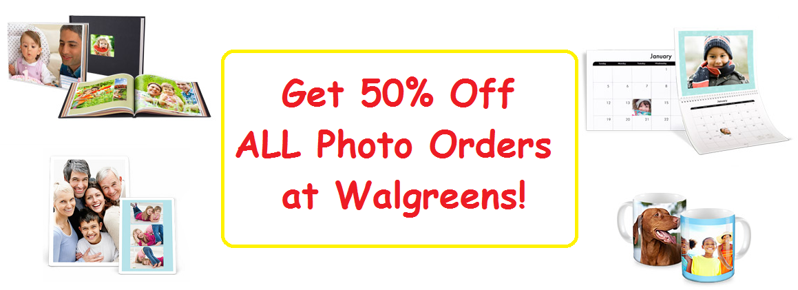Get 50% Off All Photo Orders At Walgreens! (Prints, Photo Cards, Gifts & MORE!)